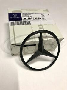 Mercedes-Benz C Klasse W204 Mattschwarz Original Hinten Stern Abzeichen Emblem
