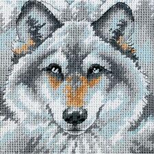BEAUTIFUL CALL OF THE WOLF NEEDLEPOINT KIT by DIMENSIONS