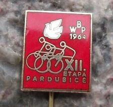 1964 WBP XII International Bicycle Peace Race Pardubice Stage Cycling Pin Badge