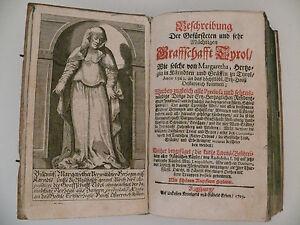 Graffschafft TYROL, von 1703, Beschreibung der gefürsteten und sehr mächtigen...