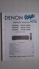 Denon dcd-580 570 480 service manual original repair book stereo cd player