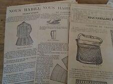 """PATRON ORIGINAL POUR LA POUPEE """" BLEUETTE """"COSTUME DE CHASE  N°28/29/30AOUT 1907"""