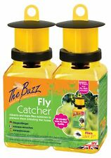2 x Ready Baited Bottles Red Drosophila Fly Catcher Trap Insect Bug Killer