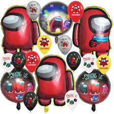AMONG US ALIEN BALLOONS Birthday Party Decoration GAME BANNER SUPPLIES THEME