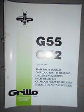 GRILLO motoculteur G55 - GF2 : catalogue pièces 2001