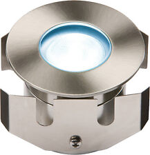 Knightsbridge 1IPB Outdoor Low Voltage Blue LED Recessed Decking Light IP68