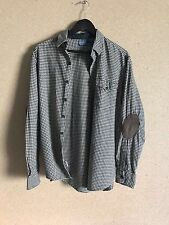 Polo Ralph Lauren Men's Shirt Gingham Check With Elbow Patches - Beige/Black - L