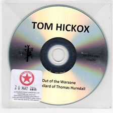 (FE751) Tom Hickox, Out Of The Warzone - 2014 DJ CD