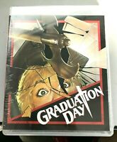Graduation Day (Blu-ray/DVD Combo, 2014) Vinegar Syndrome slasher NEW SEALED