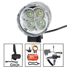 4X CREE 5200LM XML T6 Front Head LED Bicycle Bike Headlamp Headlight+Tail Light
