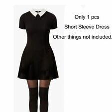 Renaissance Medieval Gothic Women Black Mini Dress Cosplay Halloween Costume