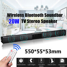 20W Wireless bluetooth TV Sound Bar Stereo Speaker Home Theater Audio Subwoofer