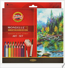 Koh-i-noor Mondeluz Aquarell Drawing Set. 72 Colored Pencils Water color pencils