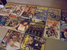 Mixed Lot Of 14 Motorcycle Magazines,Iron Horse,Jammers,American Iron,Catalogs,B