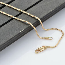 rose gold plated jewellry 1mm thin long necklace chain 20.47inch gold tone