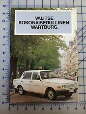 1985 Wartburg 353 Sedan Tourist Brochure Folder Finland