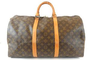 LOUIS VUITTON Keepol 50 Boston Bag Monogram Travel Bag M41426
