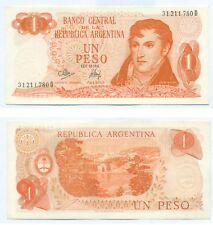 ARGENTINA NOTE 1 PESO (1973) MANCINI-EMPARANZA B# 2313 SERIAL D P 287 XF