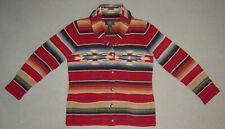 Ralph Lauren Hand Knit Indian Blanket Sweater Conchos S Mint