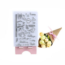 Little bird owl Transparent Clear Stamps DIY Scrapbooking Photo-Album Decoration