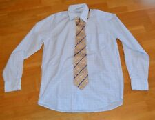OTTO KERN Trend Line , Hemd,Krawatte, langarm, kariert,hellblau weiß, Gr 39