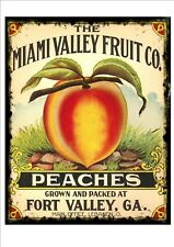 Vintage Florida brins Affiche Publicitaire reproduction métal signe, Miami peach