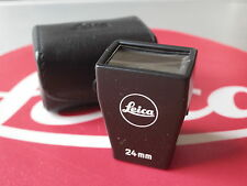 Leica Leitz 24mm Black Plastic #12019 Brightline Finder W/Leather Case EX+