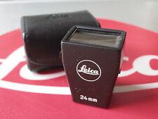 Leica Leitz 24mm Black Plastic #12019 Brightline Finder W/Leather Case EX+