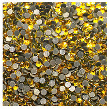 Strass  JAUNE CITRON 500 ex mélange s6+ s10+ s16+ s20 HOT FIX RHINESTONE mixed