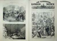 Antique Old Print 1876 War Turkey Insurgent Prisoners Constantinople Army 19th