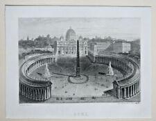 ROME Italie GRAVURE Rouargue XIX°