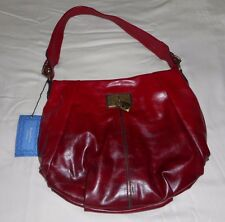 New SimplyVera VERA WANG Hobo Shoulder Bag Purse Tote Red Black Pleated NWT