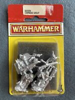 WARHAMMER SIGMAR SKAVEN COMMAND GROUP METAL OOP IN BLISTER GAMES WORKSHOP WFB GW