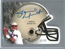 Jameis Winston 2015 Leaf Ultimate Draft Helmet Die-Cut Autograph #11/15
