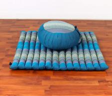 Leewadee Set de Méditation Coussin Zafu, Tapis Zabuton, 76x72x25 cm, Kapok