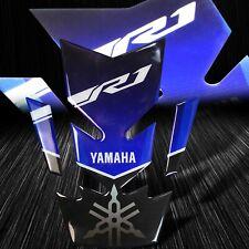 3D Gel Gas/Fuel Tank Pad Decal/Sticker Reflective Yamaha&YZF-R1 Logo Blue/Black
