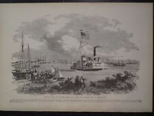 City of New Berne North Carolina Neuse Trent River Boats Civil War Frank Leslie'