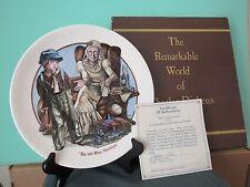 "Wedgewood Charles Dickens Plate #454 ""Pip And Miss Havisham"" Coa, W/Box"