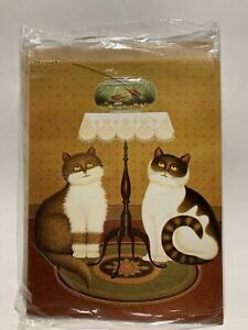 """LOT 6 NEW Leanin' Tree FRIENDSHIP Cards """"Let's Do Lunch"""" FRG9865 Cats & Goldfish"""