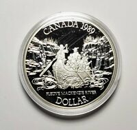 Canada 1989 Sir Alexander Mackenzie's Voyage Silver $1.00 One Dollar Coin Proof