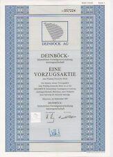 Deinböck Immobilien Vermögensverwaltung AG alte DM Aktie München 1991 Stadthagen