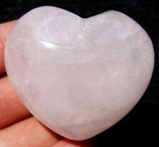 NATURAL PINK ROSE QUARTZ Crystal Carving ART Heart