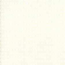 Studio M Whispers Muslin Mates XOXO White on Muslin Cream Quilting Cotton Fabric