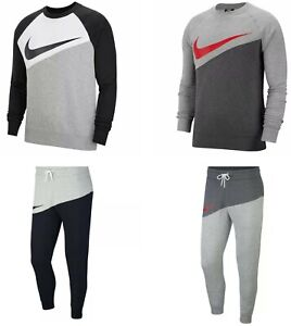 Nike Air Tracksuit Sweatshirt Fleece Joggers Sweatpants Hoody Bottoms Grey Mens
