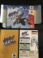 N64 1080 Snowboarding Box, Instructions, Operation Card Only