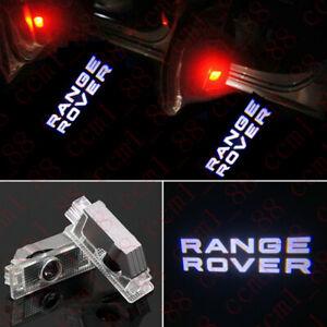 2x Logo LED Door Courtesy Light Ghost Laser Projector For Land Rover Range Rover