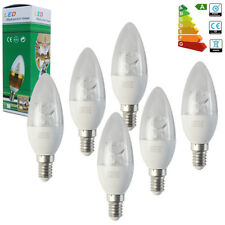 6x E14 SES 8W LED Candle Bulbs Spotlight Energy Saving Lamp Daylight Warm White
