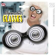 Scienziato PAZZO round Occhiali Costume Accessorio MAD MAN Einstein