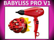 BABYLISS PRO PROFESSIONAL NANO TITANIUM LUXURY VOLARE V1 RED HAIR BLOW DRYER
