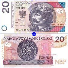 POLAND 20 ZLOTYCH 05.01.2012(2014) P-184a *A0* UNC Banknote last prefix